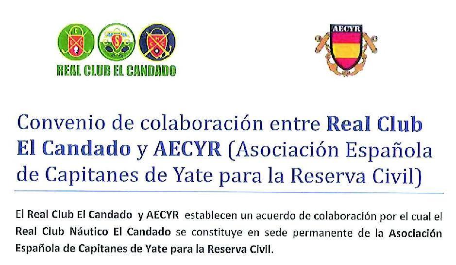 Convenio de colaboración entre el Real Club El Candado y AECYR