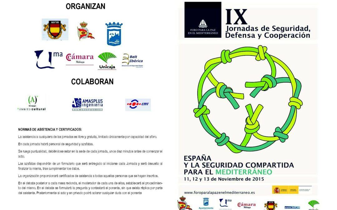 IX Jornadas de Seguridad, Defensa y Cooperacion